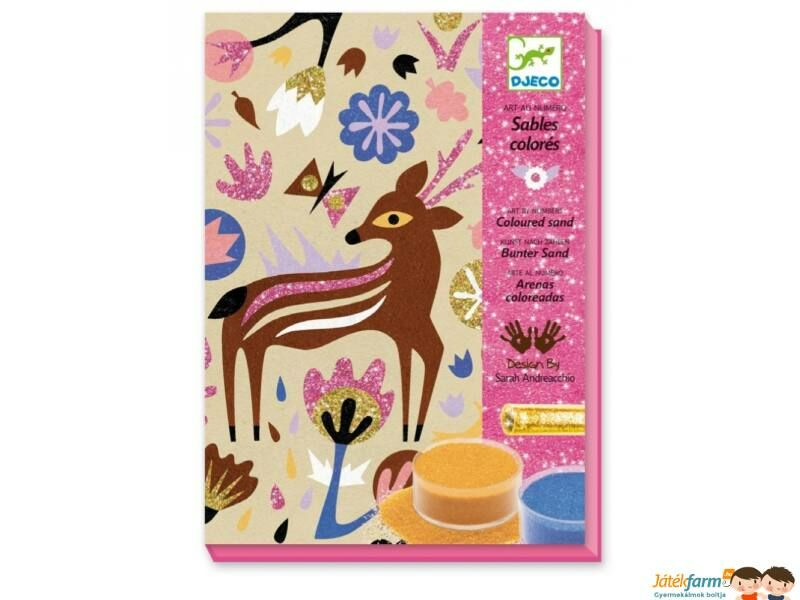 Kreatív játékok lányoknak a Játékfarmon, homokkép