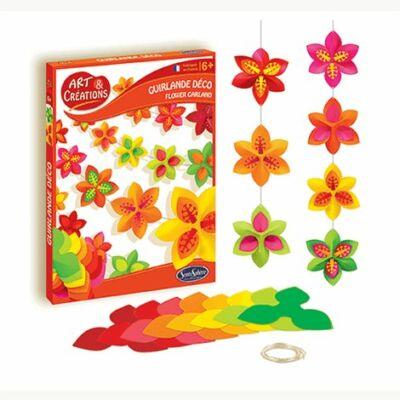 Virágos girlandkészítő kreatív szett