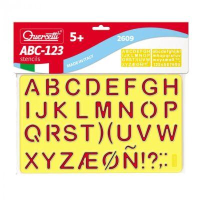 Rajzoló sablon ABC-1,2,3 2 db-os - Quercetti