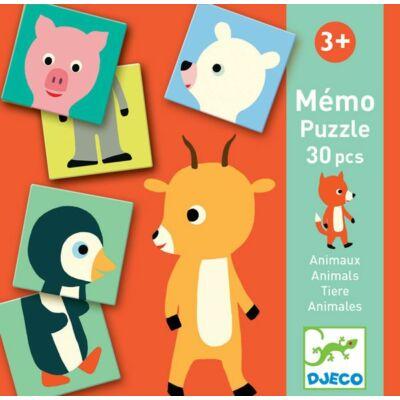 Állati párosító - Párosító memóri játék - Memo Animo-puzzle - Djeco