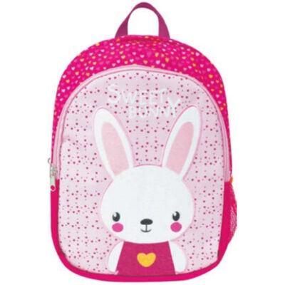 Street: Sweet Bunny nyuszis nagyméretű ovis hátizsák 23×34×15 cm
