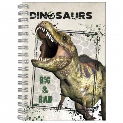 Dinoszaurusz spirálos notesz A/6