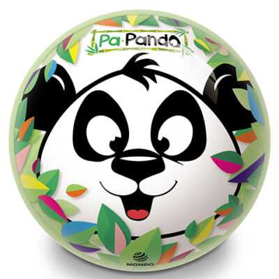 Panda mintás 23 cm-es gumilabda – Mondo Toys