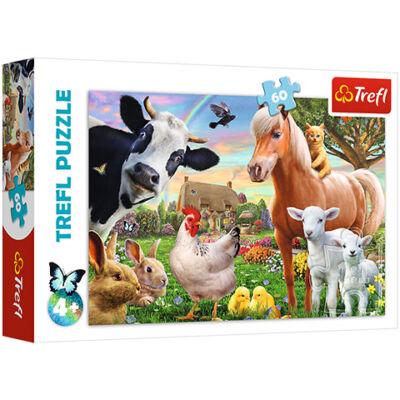 Egy vidám farm puzzle 60 db-os – Trefl