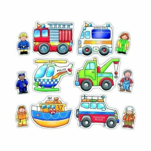 Megkülönböztetett járművek puzzle OR204 - Orchard