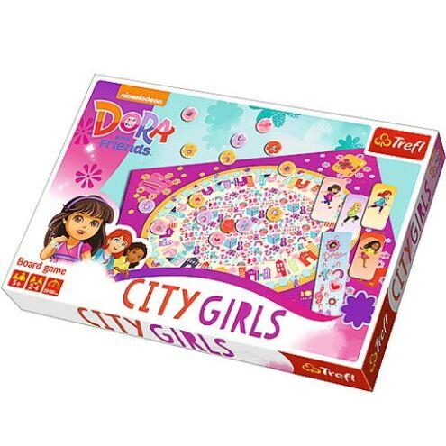 Dóra és barátai: Városi lányok társasjáték - Trefl