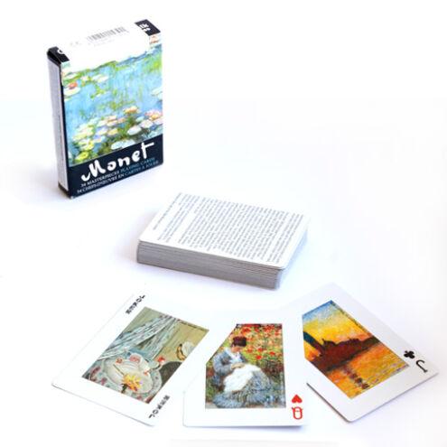 Claude Monet festményei 1×55 lapos exkluzív römi kártya