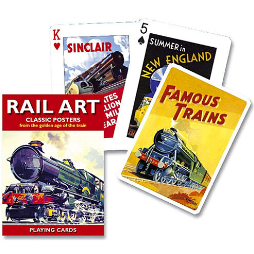 Exkluzív römi kártya – Rail Art 1×55 lap – Piatnik