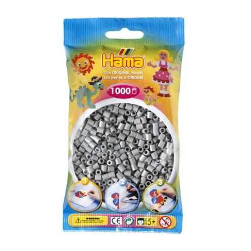 Hama: Szürke vasalható gyöngy 1000 db-os Midi