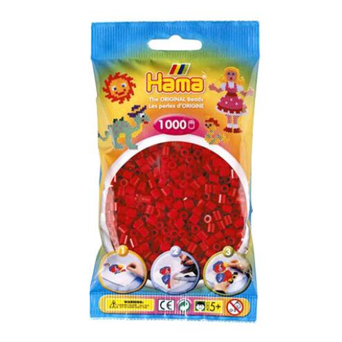 Hama: Élénk piros vasalható gyöngy 1000 db-os Midi