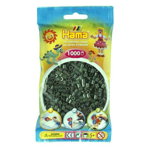 Hama: Sötétzöld vasalható gyöngy 1000 db-os Midi