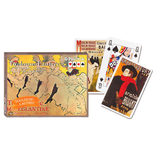 Művész römi kártya – Toulouse-Lautrec 2×55 lap – Piatnik