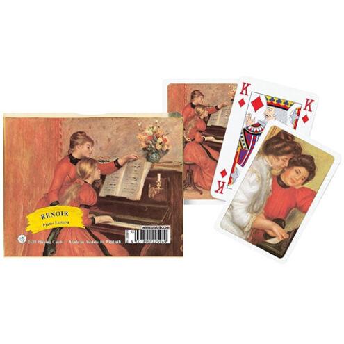 Művész römi kártya – Renoir Zongora leckék 2×55 lap – Piatnik