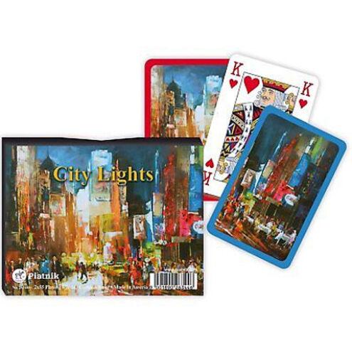Luxus römi kártya – City Light 2×55 lap – Piatnik