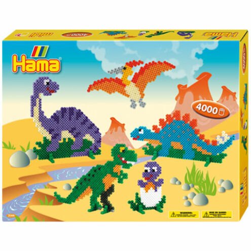 Hama: Dinoszauruszok vasalható gyöngy szett 4000 db-os Midi