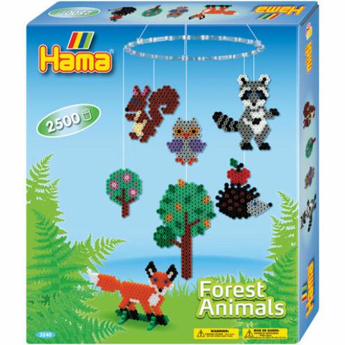 Hama: Erdő állatai vasalható gyöngy szett 2500 db-os Midi